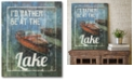 """Courtside Market Rather be at The Lake Gallery-Wrapped Canvas Wall Art - 16"""" x 20"""""""