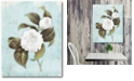 """Courtside Market Light blue wood floral Gallery-Wrapped Canvas Wall Art - 16"""" x 20"""""""