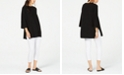 Eileen Fisher Black Tunic And White Leggings