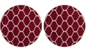 Safavieh Hudson Red and Ivory 7' x 7' Round Area Rug
