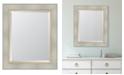 "Melissa Van Hise White Catalina Framed Mirror - 30"" x 36"" x 2"""