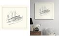 "Melissa Van Hise Two Sailboats Sketch Framed Giclee Wall Art - 29"" x 33"" x 2"""