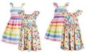 Blueberi Boulevard Baby Girls 2-Pk. Striped and Printed Dresses