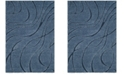 "Safavieh Shag Light Blue and Blue 5'3"" x 7'6"" Area Rug"