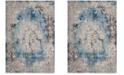 Safavieh Bristol Blue and Light Gray 6' x 9' Area Rug