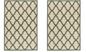 Safavieh Linden Cream and Green 2' x 8' Runner Area Rug