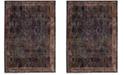 Safavieh Harmony Navy and Gold 10' x 14' Sisal Weave Area Rug