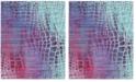 Safavieh Valencia Blue and Fuchsia 9' x 12' Area Rug