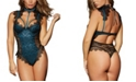 Dreamgirl Contrast Lace Overlay Teddy