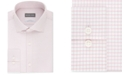 Michael Kors Men's Slim-Fit Non-Iron Airsoft Performance Stretch Pink Check Dress Shirt