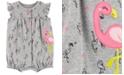 Carter's Baby Girls Flamingo Cotton Romper