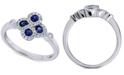 Macy's Sapphire (1/3 ct. t.w.) & Diamond (1/5 ct. t.w.) Ring in 14k White Gold