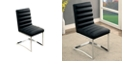 Benzara Contemporary Side Chair in Black - Set Of 2