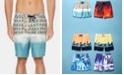 "Perry Ellis Men's 8.5"" Beach Scene E-Board Swim Trunks"