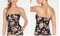 Becca French Valley Bandeau Tankini Top, Available in D Cup