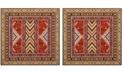 Safavieh Classic Vintage Orange and Gold 6' x 6' Square Area Rug