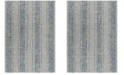 "Safavieh Courtyard Light Grey and Blue 2'3"" x 8' Sisal Weave Runner Area Rug"