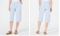 Karen Scott Petite Cotton Seersucker Capri Pants, Created for Macy's