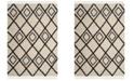 "Safavieh Moroccan Fringe Shag Cream and Charcoal 6'7"" X 9'6"" Area Rug"