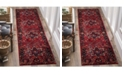 """Safavieh Vintage Hamadan Red and Multi 2'2"""" x 18' Runner Area Rug"""