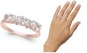 Macy's Morganite (1-1/3 ct. t.w.) & Diamond Accent Statement Ring in 14k Rose Gold