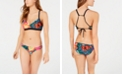 Body Glove Juniors' Printed D-Cup Bikini Top & Strappy Bottoms