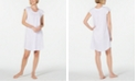 Miss Elaine Lace-Trim Pointelle Knit Nightgown