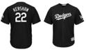 Majestic Men's Clayton Kershaw Los Angeles Dodgers Black Tux Replica Cool Base Jersey