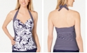 Island Escape Bay of Biscay Halter Tankini Top, Created for Macy's