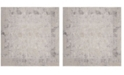 """Safavieh Meadow Taupe and Gray 6'7"""" x 6'7"""" Square Area Rug"""
