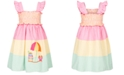 Good Lad Little Girls Tiered Gingham Seersucker Dress