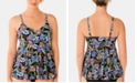Swim Solutions Boho Play V-Neck Tankini Top, Created for Macy's