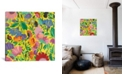 """iCanvas """"Mexican Garden"""" By Kim Parker Gallery-Wrapped Canvas Print - 37"""" x 37"""" x 0.75"""""""