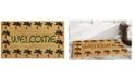 "Home & More Palm Tree Border Welcome 17"" x 29"" Coir/Vinyl Doormat"
