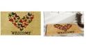 """Home & More Butterfly Welcome 17"""" x 29"""" Coir/Vinyl Doormat"""