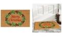 """Home & More Christmas Wreath 17"""" x 29"""" Coir/Vinyl Doormat"""