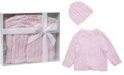 3Stories Cable Knit Baby Cardigan with Beanie