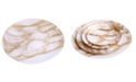 """Classic Touch Set of 4 Marble 13"""" Chargers"""
