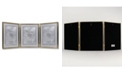 """Lawrence Frames Antique Gold Bead Hinged Triple Picture Frame - 8"""" x 10"""""""