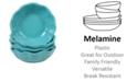 Certified International Perlette Teal Melamine 4-Pc. All Purpose Bowl Set