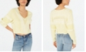 Free People Lemonade Stand Cropped Mixed-Knit Sweater