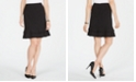 Kasper Stretch Ruffled Skirt
