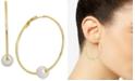 Essentials Freshwater Pearl (9-1/2mm) Hoop Earrings in Gold-Plate