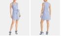 RACHEL Rachel Roy Sabrina Sleeveless Seersucker Tie-Waist Cotton Dress
