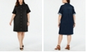 Style & Co Plus Size Denim Shirtdress, Created for Macy's