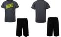 Nike Toddler Boys 2-Pc. Dri-FIT Logo T-Shirt & Mesh Running Shorts Set