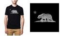 LA Pop Art Mens Premium Blend Word Art T-Shirt - California Bear
