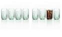 Luminarc Coca-Cola Glass Can Georgia Green- Set of 4