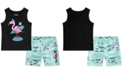 Hurley Little Boys 2-Pc. Graphic-Print Tank Top & Board Shorts