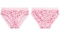 Maidenform Little & Big Girls Heart-Print Seamless Hipster Underwear